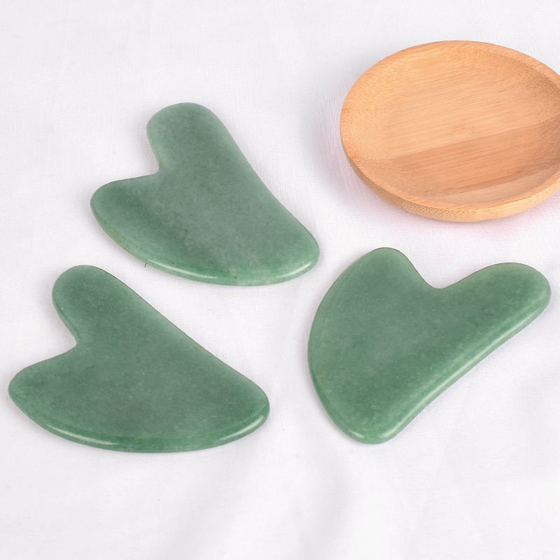 Gua Sha Facial Massage Tool Natural Green Aventurine Scraping board Body Scraper Crystal Scratching