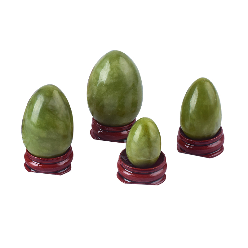 Undrilled Green Jade Yoni Eggs Massage Jade egg to Train Pelvic Muscles Kegel Exercise