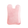 N-Shaped Rose Quartz Gua Sha Scraping Massage Tool, Natural Rose Quartz Guasha Board for SPA Acupuncture Treatment, Reducing Neck and Muscle Pain
