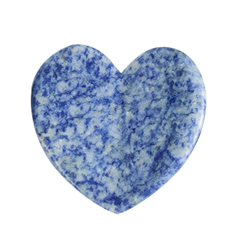 Heart-Shaped Natural Blue Spot Jasper Gua Sha Facial Massage Natural Scraping board Body Scraper Crystal Scratching