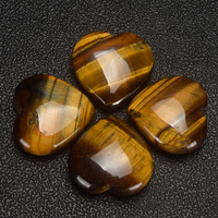 20mm 30mm 35mm Tiger Eye Heart Figurine Gemstone Beads Natural Jade Hearts