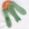 Fishtail-Shaped Green Aventurine Guasha Scraping Stone for Spa Relaxing Meditation Massage