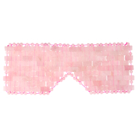 100% Natural Rose Quartz Eye Mask Cooling Jade Sleep Eye Mask