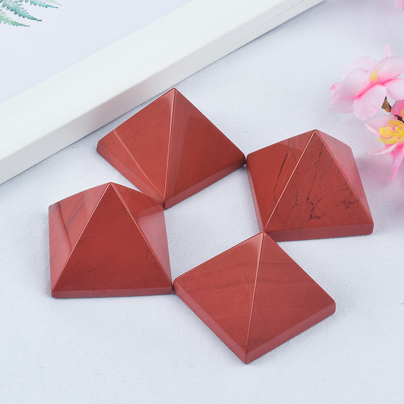 Craved Natural Rose Jasper Stone Pyramids