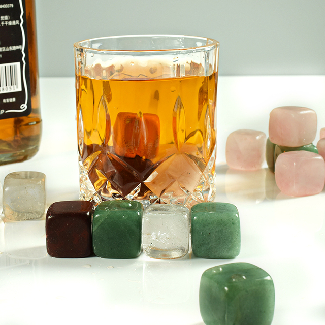 Natural Gemstone Whiskey Chilling Stones Bar Accessories Wine