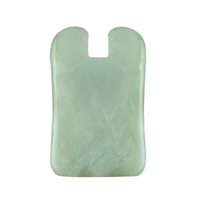 N-Shaped Xiuyan Jade Gua Sha Scraping Massage Tool, Natural Jade Guasha Board for SPA Acupuncture Treatment, Reducing Neck and Muscle Pain
