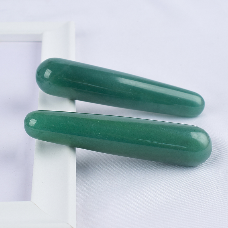 Natural Green Aventurine Massage Wand for Acupuncture Therapy Stick
