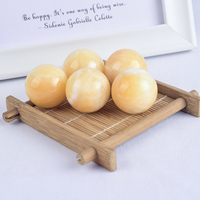 Natural Yellow Jade Stone Crystal Ball Sphere