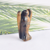 1.5 Inch Tiger Eye Stone Small Carved Crystal Angel Figurine