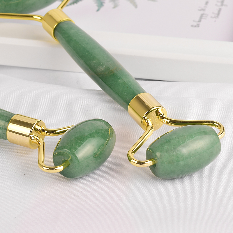 Green Aventurine Jade Roller for Face - Green Aventurine Face Roller, Real 100% Jade Face Massager for Wrinkles, Anti Aging Facial Massage