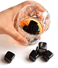 Natural Black Obsidian Whiskey Stones Crystal Whisky Bar Ice Stone Set