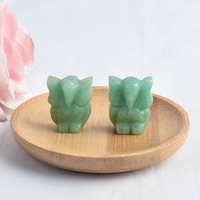1 inch Hand Carved Natural Green Aventurine Stone Mini owl figurines Figurines