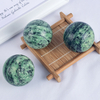 Natural Ruby Zoisite Stone Crystal Ball Sphere