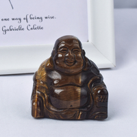2 inch Hand Carved Natural Tiger Eye Jade Mini Nile Buddha Figurines