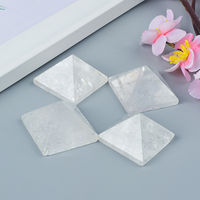Craved Natural Rock Quartz Stone Pyramids