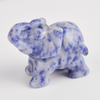 1.5 Inch Hand Carved Blue Spot Jasper Elephant Crystal Animal Figurines