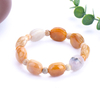 Natural Original Stone Coral Jade Turtle Back to Play Longevity Hand String