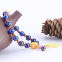 Natural lapis Lazuli with Yellow Jade Bracelet