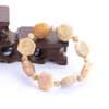 Natural Stone Coral Jade Hexagon Enjoy Longevity Hand String